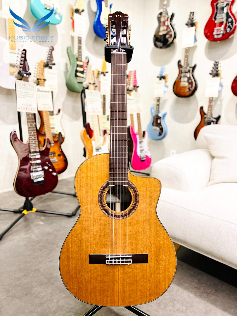 [코르도바 공식대리점/실재고보유] Cordoba Iberia Series C7-CE CD(Western Red Cedar) w/Indian Rosewood Back & Sides, Fishman Presys Blend System(신품)나일론 클래식 기타 - 92001746